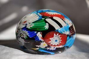 Vintage Bright Beautiful Colors Murano Italian Art Glass Paperweight