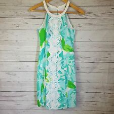 Lilly Pulitzer Pearl Shift NWT Size 0 Poolside Blue First Impressions FLAWED