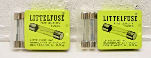 AGC 15 LITTELFUSE Quality Glass Tube Fuse 15 AMP Fast Acting NOS LOT of 10 Fuses