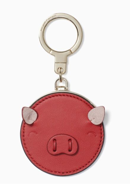 Kate Spade Year of the PIG Red Bag Charm Key Chain NEW