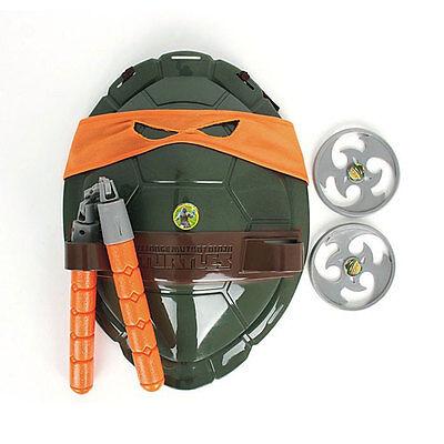 Teenage Mutant Ninja Turtles Weapons Armor Shell Set Children Toys Gift Orange