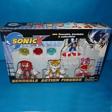 FEVA SEGA SONIC The Hedgehog Sonic X flexible conjunto de figuras de acción MIB En Caja Raro