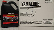 YAMALUBE 10W40 4 GALLON CASE OF YAMAHA OIL 10 W 40 LUB-10W40-AP-04 NIB YFZ YFM