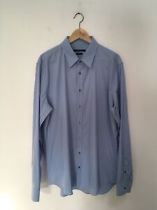1681d0c04 Gucci Robin's Egg Blue Summer Weight Shirt Size 45 / 17 3/4 Made in ...