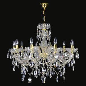 100% De Qualité Lustre Baroque En Cristal De Boheme Pb30% Wranovsky 10 Feux Ø80cm Portail ImperméAble à L'Eau, RéSistant Aux Chocs Et AntimagnéTique