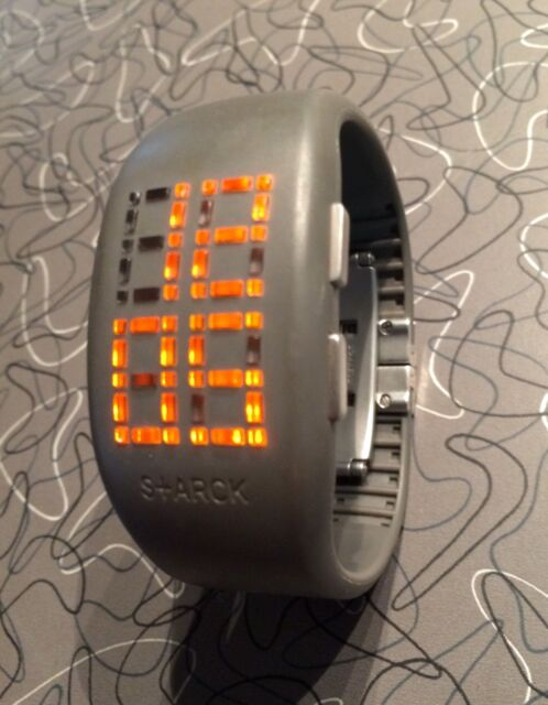 Rare Philippe Starck PH1056 Gray 'Light Box' Watch, New Battery, Exc!