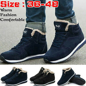 da275e1680c Details about NEW Winter Snow Boots Plush Outdoor Work Shoes Warm Boots For  Men/Women Fashion