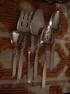 Oneida Community Silverplate flatware South Seas Hostess meat pie serving spoons