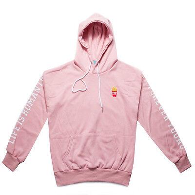 Womens BTS Bangtan Kpop Chips Embroidered Hoodies Sweater Sweatshirt Outwear New