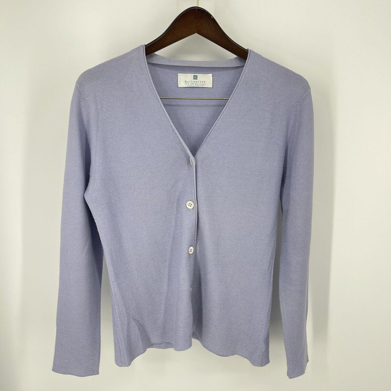 Ballantyne Silk Blend Knitted Women's Cardigan Sw… - image 1