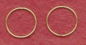 Gold-Plated-Sterling-Silver-Sleepers-Earrings-Hinged-20mm-New-Sleeper-set-hoops
