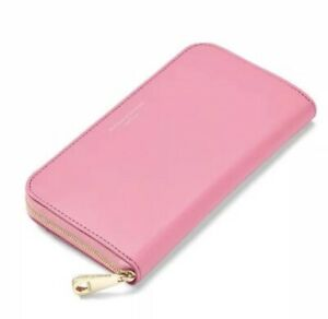 size 40 offer detailed images Details about Aspinal of London Bright Pink Continental Clutch Zip Wallet  Purse Smooth Leather