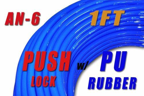 """6 AN Push Lok Loc Lock Hose Fuel Line Coolant 7//16/"""" Synthetic Rubber Blue"""