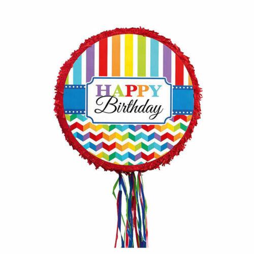 Pinata Happy Birthday kreisförmig bunt Kindergeburtstag