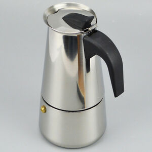 Image Is Loading 100ml Stainless Steel Moka Espresso Coffee Pot Maker