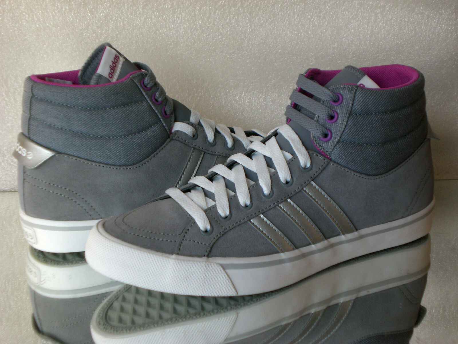 ADIDAS Neo PARK ST MID W F97726 High-Top Sneakers Wildleder  grey purple Neu