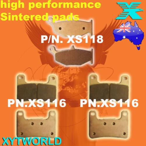 FRONT REAR Brake Pads for SUZUKI GSXR 1000 K7 K8 2007 2008