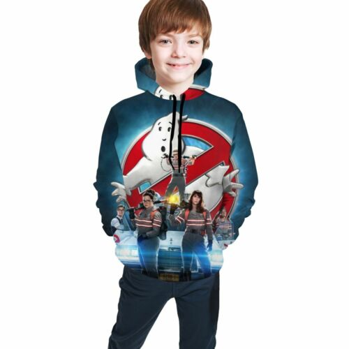 Ghostbusters Teen Kids Casual Hooded Sweatshirt Boy Funny Hoodie Pullover Jumper