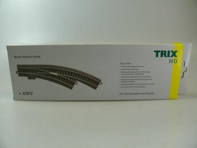 neu H0 TRIX 62672 /'Bogenweiche rechts/'
