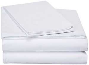 DaDa Bedding Soft Basic 100/% Cotton Striped Fitted Sheet /& Pillow Cases Set