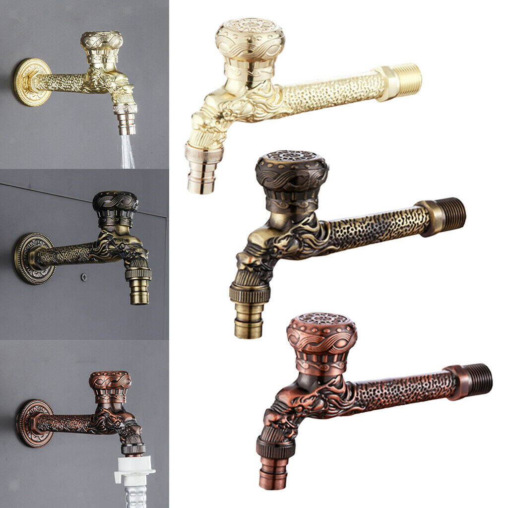 Garden Bibcock Wall Bottle Tap Bathroom Kitchen Lavatory Sink Faucet Taps