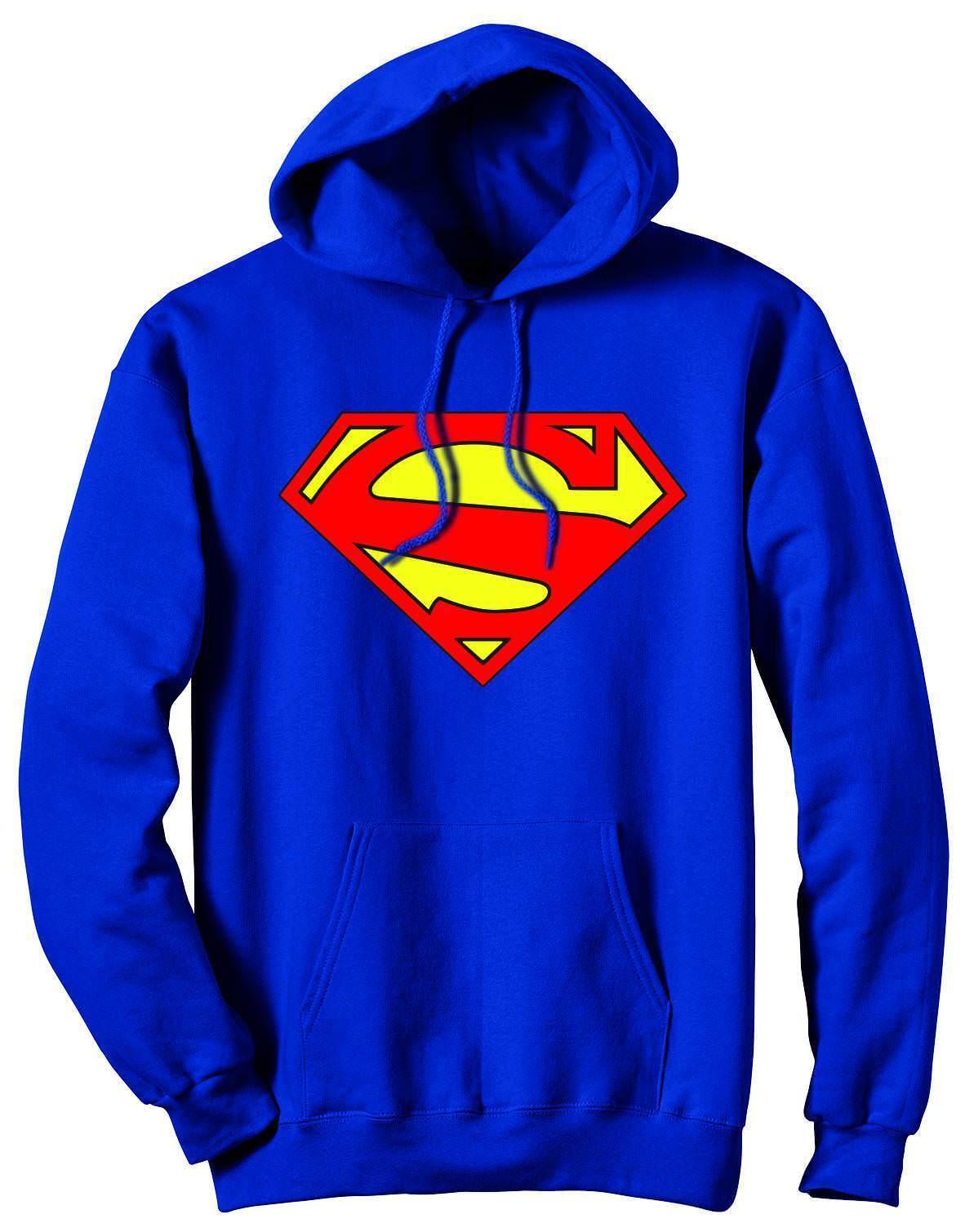 Superman 52 Symbol Blau Hoodie Sweatshirt