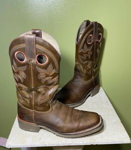 MENS DOUBLE H BOOTS MICKEY WESTERN COWBOY SZ 9 D