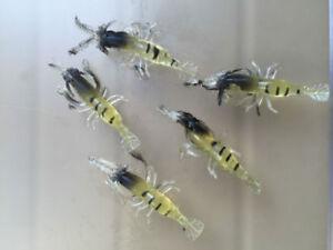 Details about Multi-SHRIMP Prawn Lure Bass Coarse Sea River Fishing Cod  Mackerel Salmon Bait