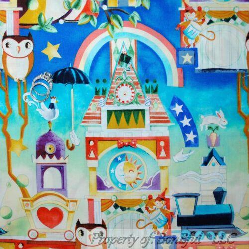 BonEful Fabric FQ Cotton Quilt Baby Nursery Monkey Circus Owl Magic Train Bird