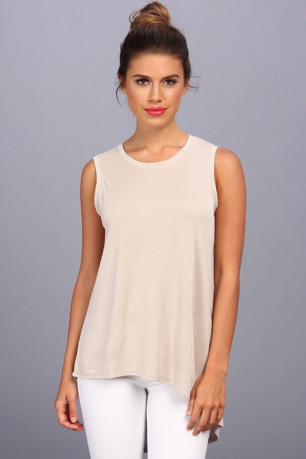 BCBG MAXAZRIA Woherren Karyn High Low Vintage L Stone t-shirt blouse Top NEW
