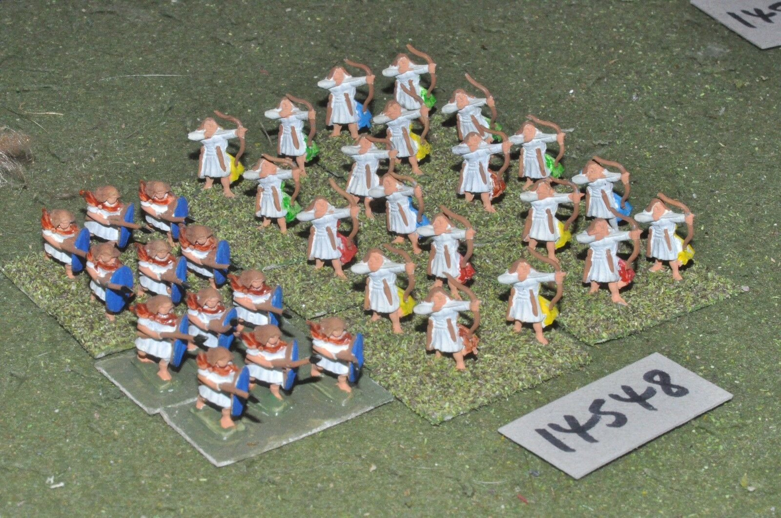 15mm classical   generic - ancient archers & spearmen 32 figs - inf (14548)
