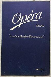 Programme-CINEMA-OPERA-Reims-LE-PATRIOTE-Emil-Jannings-ERNST-LUBITSCH-1929