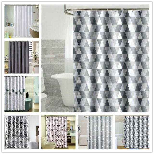 Spirella PRIMO Weighted Hem Solid Colour TEXTILE Fabric Polyester SHOWER CURTAIN