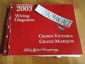 2003 Ford Crown Victoria Mercury Grand Marquis Wiring Diagrams Manual Oem Ebay