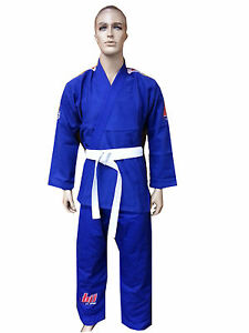 Woldorf USA BJJ uniform jiu jitsu JODO student gi in BLUE color NO LOGO