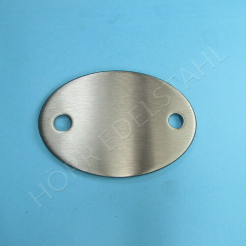 Edelstahl RONDE OVAL 2-Loch Ankerplatte gestanzt 85x60 rostfrei V2A K240