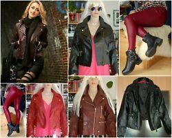 Damen – Leggins oder Jacken, Lederlook