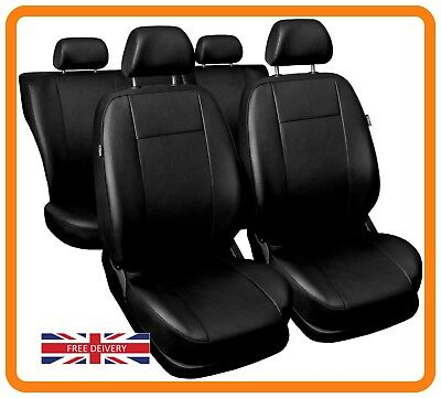 Car seat covers fit  Audi Q3 black//red  leatherette full set