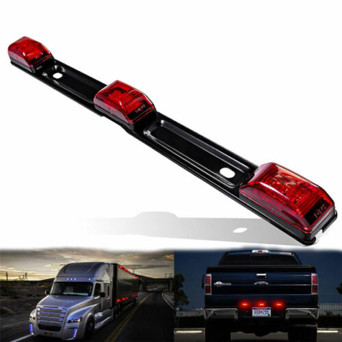 9LED Red Identification Clearance Light Bar For Camper Trailer Cargo Trailer RV