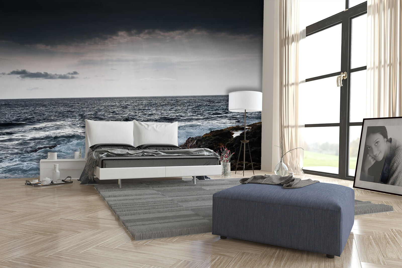 3D Stone Beach Wave 562 Wall Paper Wall Print Decal Wall Deco Indoor Wall