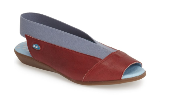 Cloud Caliber rouge bleu Peep Toe Slingback Leather Sandal femmes Tailles 36-42 NEW