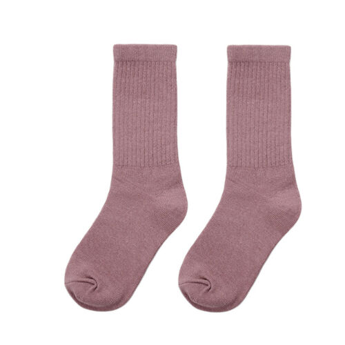 BABY KIDS TODDLERS GIRLS SOLID SOFT COTTON HIGH SOCKS TIGHT LEG STOCKINGS SUPER