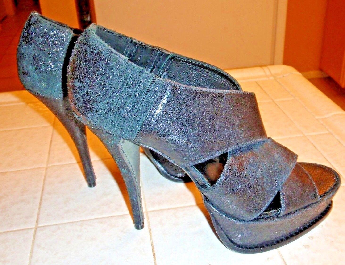 Elizabeth & James 9 E-Milla Distressed Leather Platform Sandals Größe 9 James .5  340 New 23a8c4