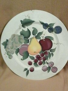 Image Is Loading Home Interiors Fruit Display Plaque Plate Round 15