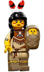 LEGO-Minifigures-Series-15-Indian-Tribal-Woman-with-baby-feathers