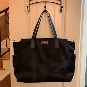 caf5acc5db2d Kate Spade Wilson Road Kaylie Baby Bag With Changing Pad Nylon Black Diaper  Bags