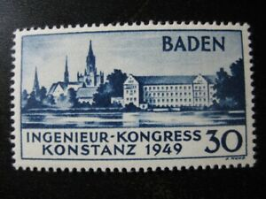 BADEN-FRENCH-OCCUPATION-Mi-46-mint-MNH-stamp-CV-31-25