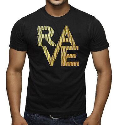 Men/'s Gold Foil Mesh Rave White T-Shirt Tank Top Workout Party EDM Dance Music