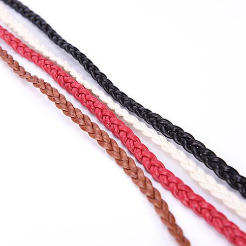 Boho Frauen PU-Leder Quaste geflochtene Bindegürtel dünne Taille Seil Gü gq