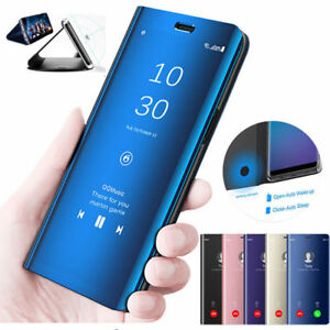 wholesale dealer 51d4c 39a4f Details about For Samsung A7 J6 Plus 2018 Note 9 Clear View Touch Mirror  Flip Stand Case Cover